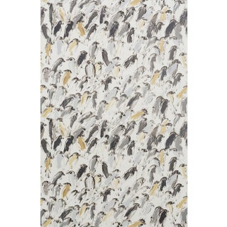 Hunt Slonem for Lee Jofa, Finches Wallpaper Roll, Neutral/Ivory, 10 Yards For Sale