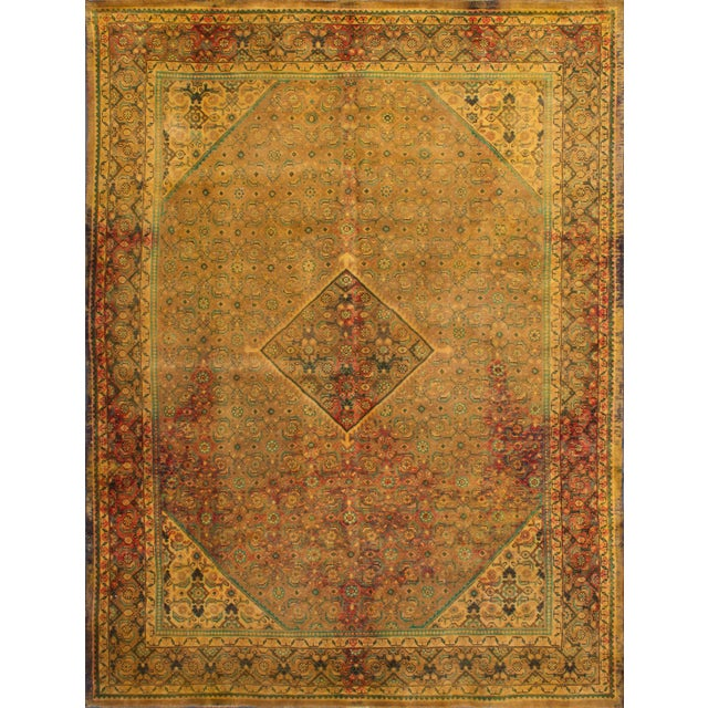 """Vintage Persian Overdyed Rug - 9'9"""" x 12'9"""" - Image 3 of 3"""