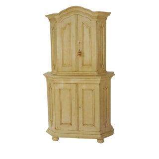 19th Century Swedish Painted Pine Cabinet For Sale
