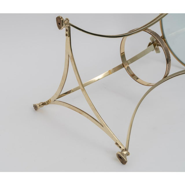 French Regency Style Brass Side Tables by Maison Jansen - a Pair For Sale - Image 10 of 11