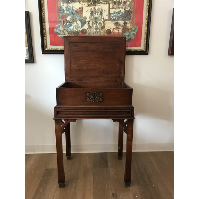 Vintage Reproduction Mahogany Box on Stand For Sale - Image 9 of 10