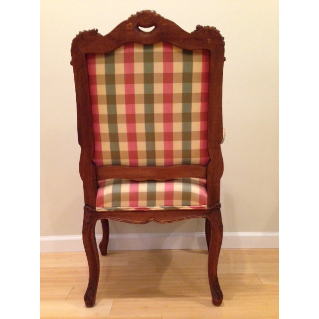 18th CenturyAntique French Louis XV Fauteuil Arm Chair For Sale - Image 4 of 13