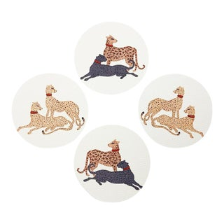 Big Cats by Willa Heart Coasters - Set of 4 For Sale