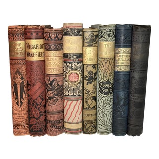 Antique Decorative Victorian Books - Set of 8