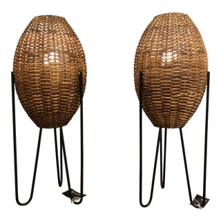 1960s Paul Mayen Mid Century Modern Lamps - a Pair For Sale