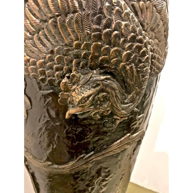 Late 19th Century Japanese Bronze Lamp, 19th c. For Sale - Image 5 of 9