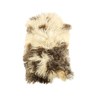 "2010's Modern Natural Sheepskin Pelt - 1'9""x3'2"" For Sale"