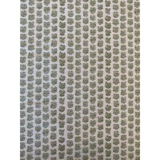 Lee Jofa Kaya Leaf Linen Cotton Blend Fabric 4 1/2 Yards For Sale
