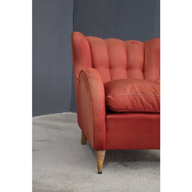 Art Deco Pair 40s Armchairs Attributed to Gio Ponti For Sale - Image 3 of 7
