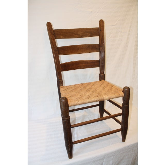 Rustic Ladder Back Chair With Split Oak Seat - Image 3 of 7
