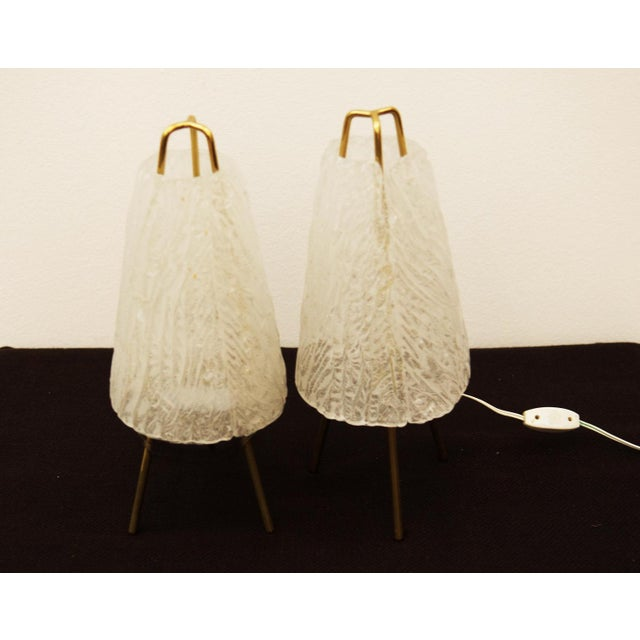 Table Lamps in Ice Optics by Kalmar, 1950s - A Pair For Sale - Image 9 of 11