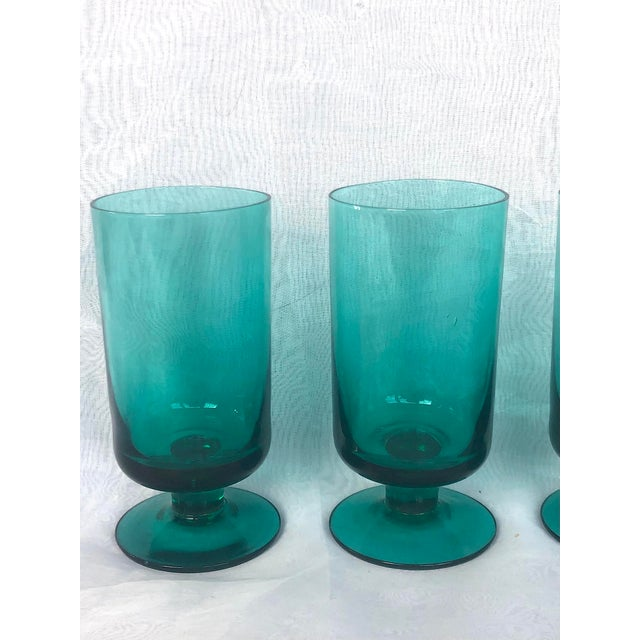 1950s Hand-Blown Swedish Juice Glasses- Set of 6 For Sale In New York - Image 6 of 13