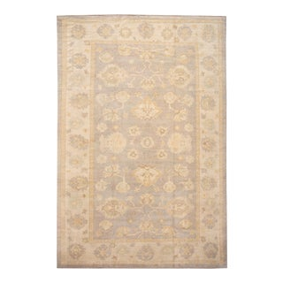 21st Century Contemporary Modern Oushak Wool Rug For Sale
