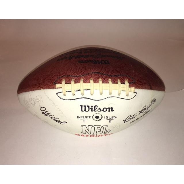 Vintage Autographed New England Patriots Football - Image 2 of 6