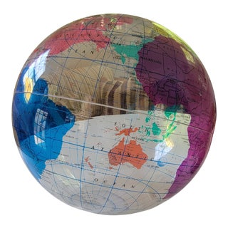 1980s Colorful Spherical Concepts: Earthsphere International Clear Globe For Sale