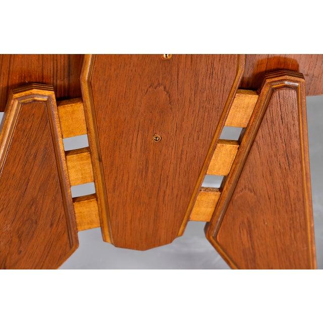 Pair Mid Century Italian Adjustable Height Teak Side Cabinets For Sale - Image 4 of 13
