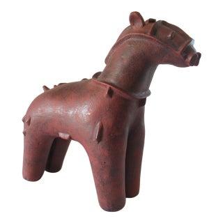Mid- Century Italian Terra Cotta Bitossi-Style Horse For Sale