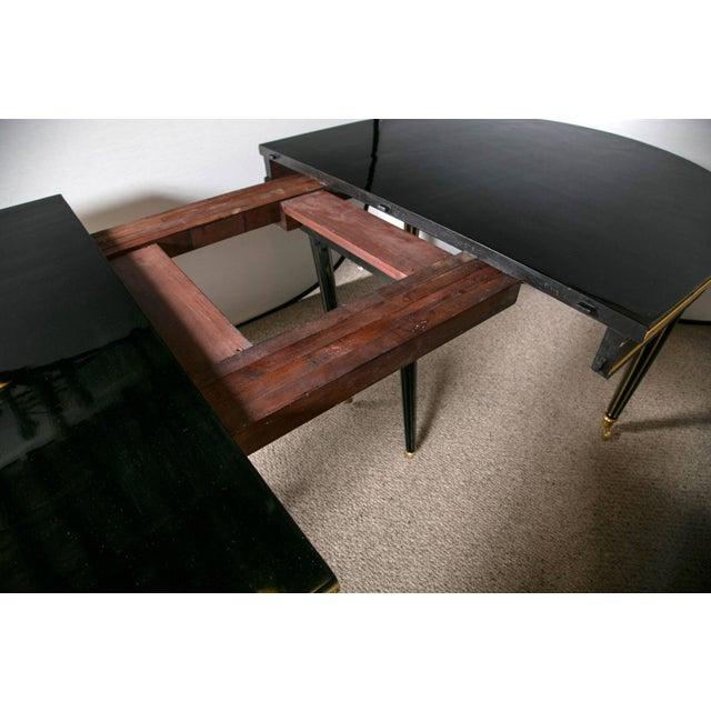 Louis XVI Style Ebonized Dining Table by Jansen - Image 6 of 8