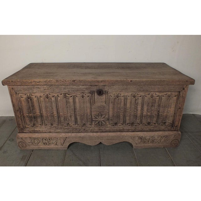 Antique Bleached Wood Blanket Chest - Image 2 of 9