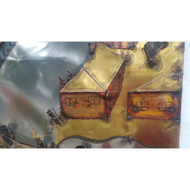 Curtis Jere Style Landscape Abstract Wall Sculpture . - Image 8 of 11