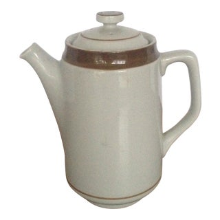 Vintage Stoneware Tea Pot For Sale