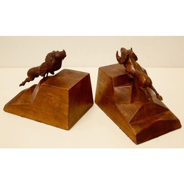 1930s Art Deco Ram Bookends - a Pair For Sale - Image 4 of 9
