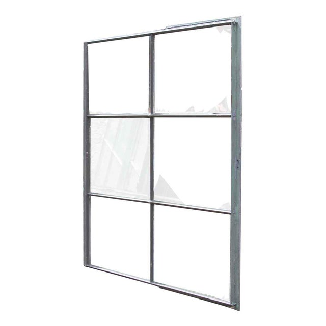 Sturdy steel frame window with original vintage glass. Priced each.