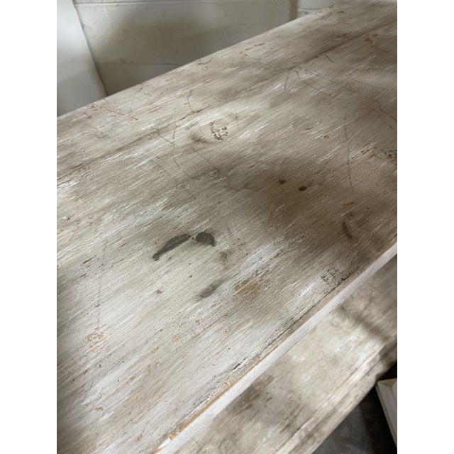 Antique White Belgian Bleached Oak Barley Twist Bookcase Shelf For Sale - Image 8 of 13