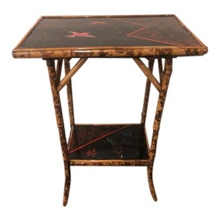 Chinoiserie Double Layer Side Table For Sale