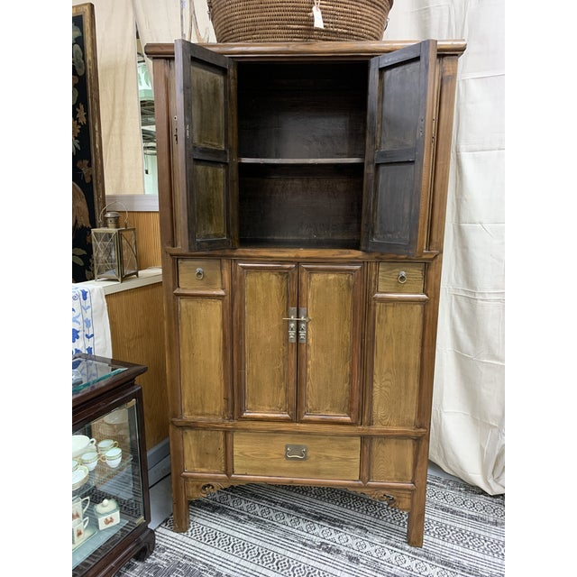Asian Style Wooden Cabinet For Sale In New York - Image 6 of 12