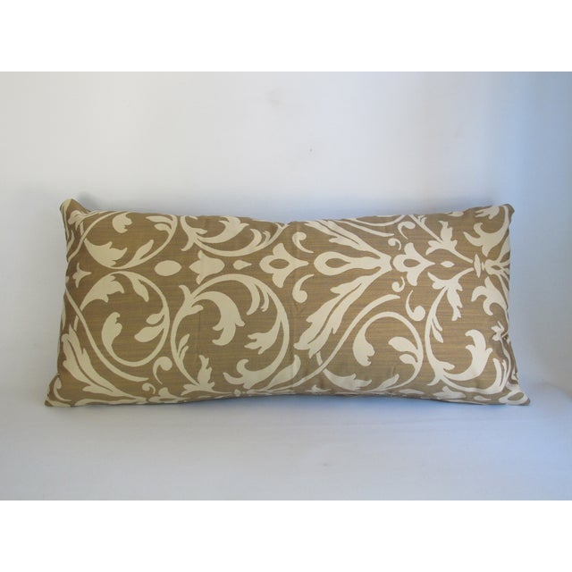 Gold Damask Bolster Pillow - Image 2 of 5