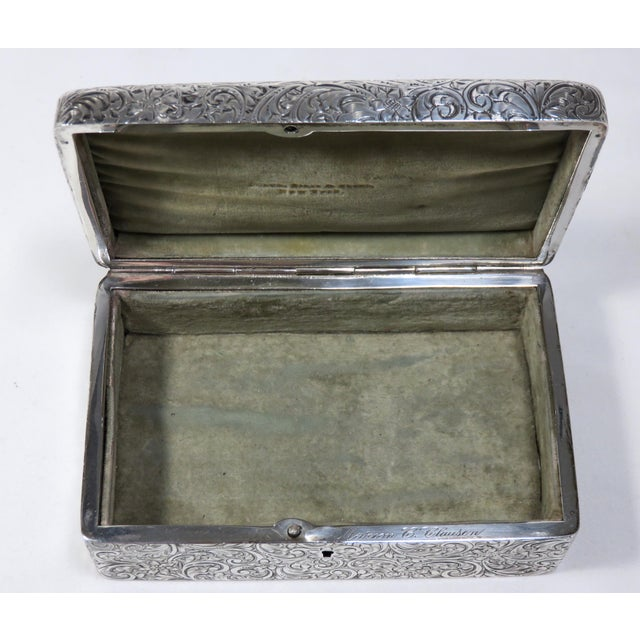 Antique 1900s Victorian Sterling Silver Jewelry Box For Sale In Boston - Image 6 of 13