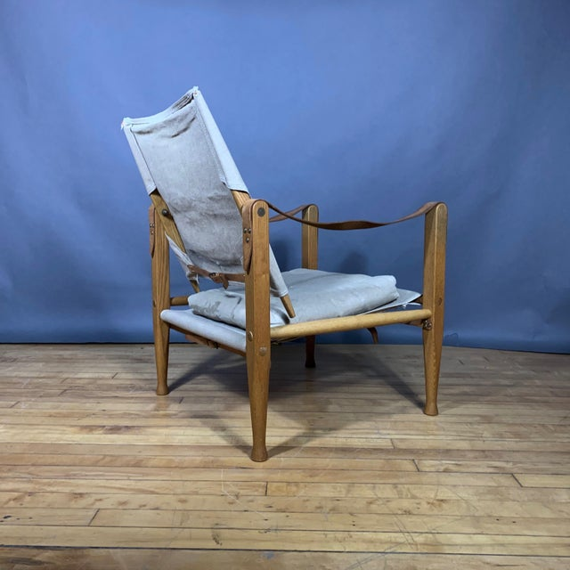 Tan Kaare Klint Safari Chair, Rud Rasmussen, Denmark For Sale - Image 8 of 11