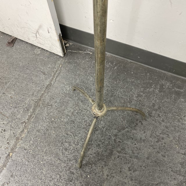 Industrial Brass Finish Metal Coat Rack For Sale - Image 3 of 7