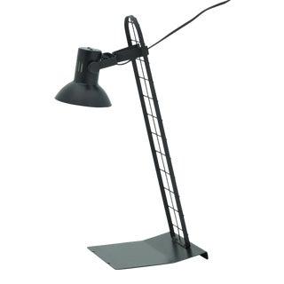 Vintage Italian Post Modern Black Metal Desk Lamp For Sale