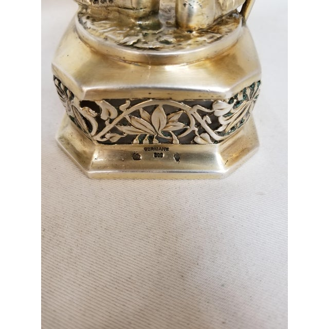 Silver 19th Century Sterling & Vermeil Silver Knight W/ Staff Flag, Germany For Sale - Image 8 of 11