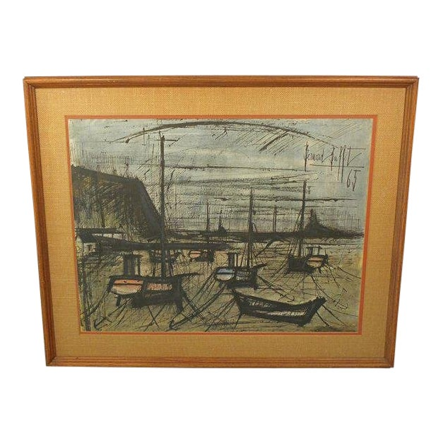Vintage French Expressionist Bernard Buffet Lithograph For Sale