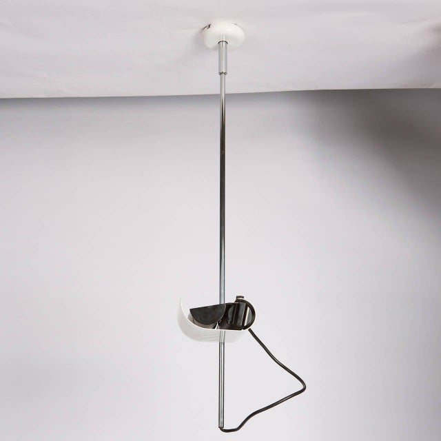 """Mid-Century Modern Set of Three """"Colombo"""" Ceiling Lamps by Joe Colombo for Oluce For Sale - Image 3 of 10"""