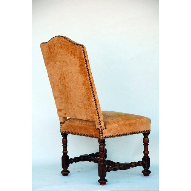 Large Turned Wood Baroque Style Chair For Sale - Image 4 of 5