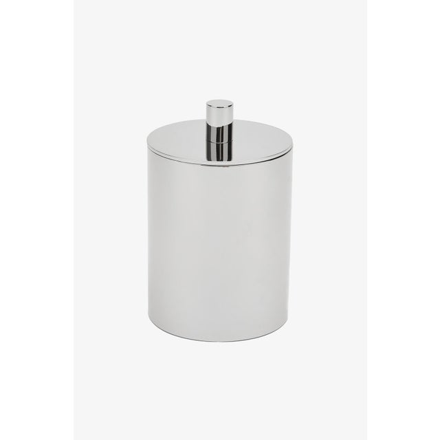 Contemporary Luster Container in Chrome For Sale - Image 3 of 3