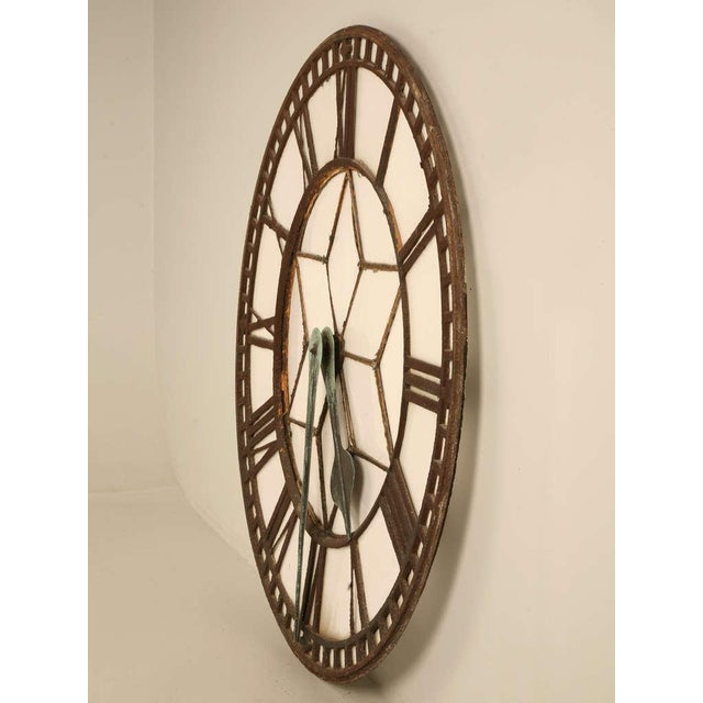 Circa 1860 Cast Iron English Clock Face With Copper Hands For Sale - Image 11 of 11