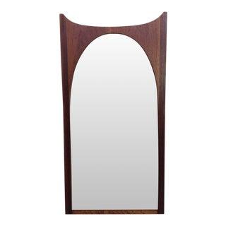 1950s Mid Century Modern Walnut Wall Mirror