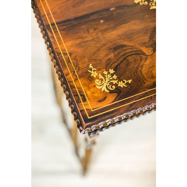 French Intarsiated Table from the 19th Century For Sale - Image 4 of 13