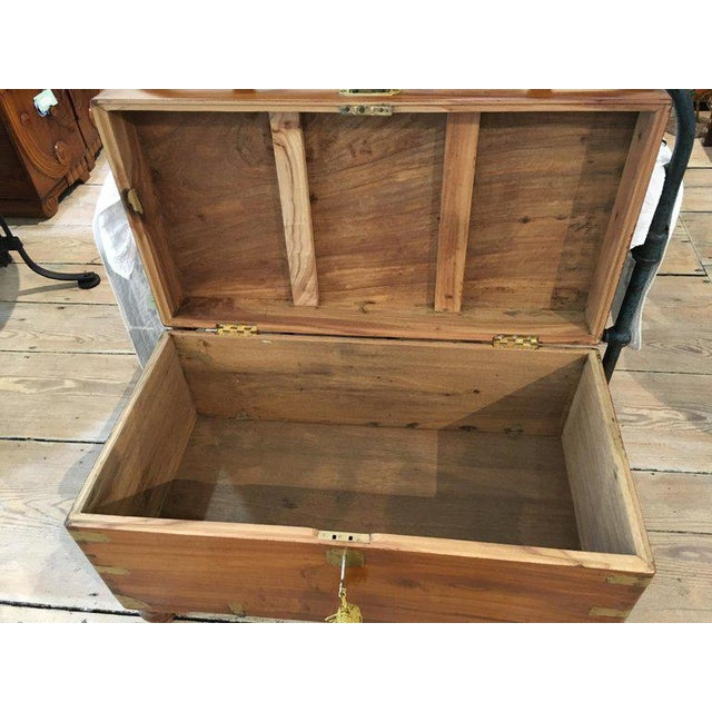 Late 19th Century British Campaign Camphor Sea Chest For Sale In Nantucket - Image 6 of 8