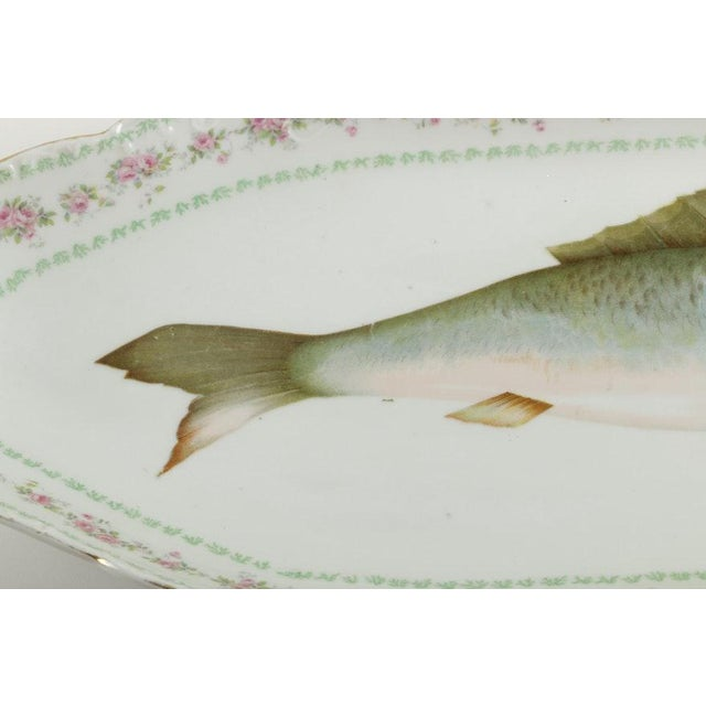 American Classical Austrian Ls (Lewis Straus) & S Carlsbad Porcelain Fish Platter For Sale - Image 3 of 9