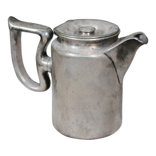 Early 20th Century Soldered Silver Tea Pot For Sale