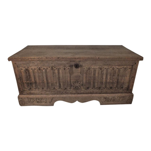 Antique Bleached Wood Blanket Chest - Image 1 of 9