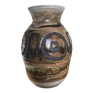 Vintage Art Studio Brutalist Pottery Vase Signed Stephens 71 For Sale