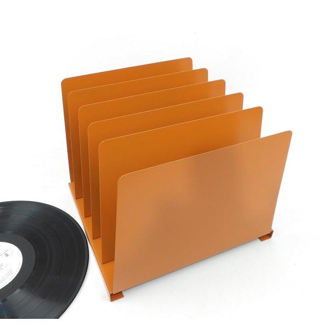 Orange Wooden Desk Organizer - Vinyl Record Rack - Image 8 of 10