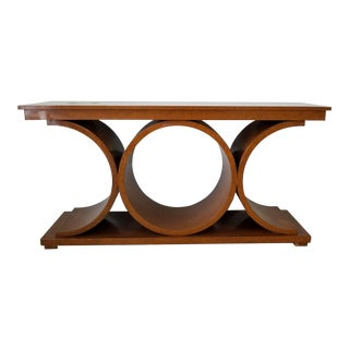 Sculpted Karl Springer Jmf Console Table . For Sale